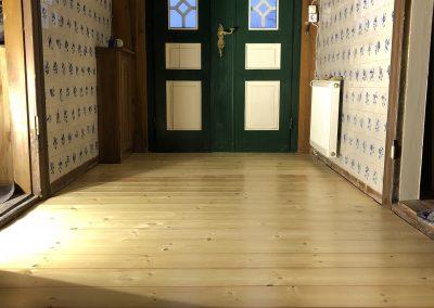 Eingangsbereich Kiefer Massivholzdiele