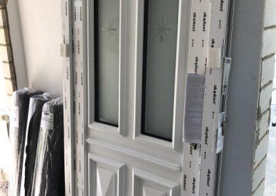 Montage einer Haustür