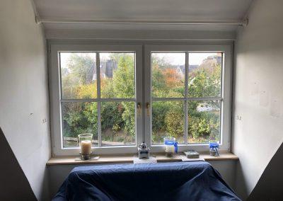 Fenster und Fensterbank Montage