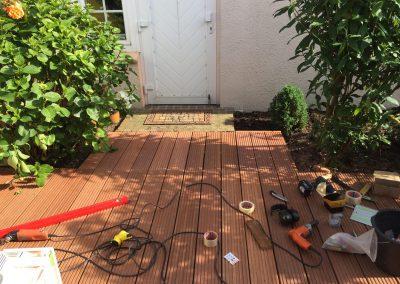 Herstellen einer Holzterrasse